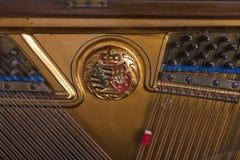 Λεπτομέρεια πιάνων ενός παλαιού γερμανικού πιάνου Στοκ εικόνα με δικαίωμα ελεύθερης χρήσης