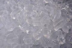 Λεπτομέρεια που πυροβολείται των κύβων πάγου Στοκ Εικόνες