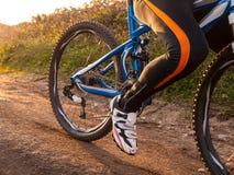 Λεπτομέρεια ποδηλάτων βουνών υπαίθρια Στοκ φωτογραφία με δικαίωμα ελεύθερης χρήσης