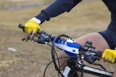 Λεπτομέρεια ποδηλάτων βουνών Στοκ Φωτογραφίες