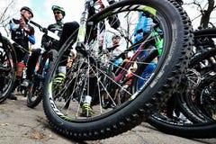 Λεπτομέρεια ποδηλάτων ποδηλάτων βουνών ροδών Στοκ Εικόνες