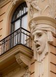 Λεπτομέρεια προσόψεων οικοδόμησης Nouveau τέχνης Στοκ εικόνα με δικαίωμα ελεύθερης χρήσης