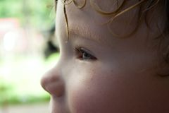 Λεπτομέρεια προσώπου παιδιών Στοκ φωτογραφία με δικαίωμα ελεύθερης χρήσης