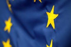Λεπτομέρεια σημαιών της Ευρωπαϊκής Ένωσης Στοκ Φωτογραφίες