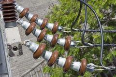 Λεπτομέρεια σταθμών παραγωγής ηλεκτρικού ρεύματος Στοκ Εικόνα