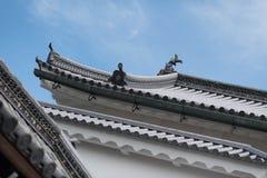 Λεπτομέρεια στεγών του ιαπωνικού κτηρίου στοκ φωτογραφίες με δικαίωμα ελεύθερης χρήσης