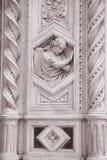 Λεπτομέρεια στην εκκλησία καθεδρικών ναών Doumo προσόψεων, Φλωρεντία Στοκ Φωτογραφία