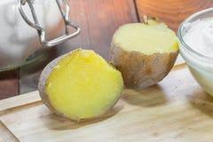 Λεπτομέρεια στις πατάτες σακακιών Στοκ φωτογραφίες με δικαίωμα ελεύθερης χρήσης