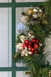 Λεπτομέρεια στο στεφάνι Χριστουγέννων Στοκ φωτογραφίες με δικαίωμα ελεύθερης χρήσης