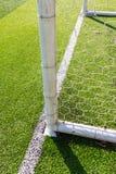 Λεπτομέρεια στόχου ποδοσφαίρου Στοκ εικόνες με δικαίωμα ελεύθερης χρήσης