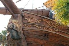 Λεπτομέρεια σχεδίου σκαφών πειρατών bowsprit Στοκ φωτογραφία με δικαίωμα ελεύθερης χρήσης