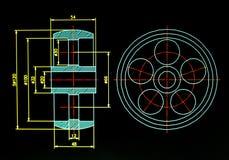 Λεπτομέρεια σχεδιαγραμμάτων CAD στοκ φωτογραφία με δικαίωμα ελεύθερης χρήσης