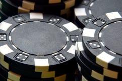 Λεπτομέρεια σωρών τσιπ πόκερ Στοκ Εικόνα