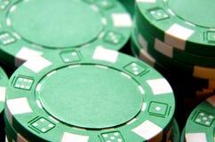 Λεπτομέρεια σωρών τσιπ πόκερ Στοκ εικόνα με δικαίωμα ελεύθερης χρήσης