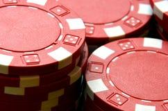 Λεπτομέρεια σωρών τσιπ πόκερ Στοκ Φωτογραφία