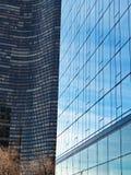 Λεπτομέρεια, σύγχρονη αρχιτεκτονική, Σικάγο Ιλλινόις, ΗΠΑ στοκ εικόνες