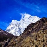 Λεπτομέρεια της αιχμής χιονιού των Ιμαλαίων Annapurna ΙΙΙ Στοκ φωτογραφία με δικαίωμα ελεύθερης χρήσης