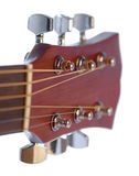 Λεπτομέρεια της ακουστικής κιθάρας Στοκ φωτογραφία με δικαίωμα ελεύθερης χρήσης