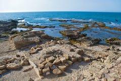 Λεπτομέρεια της αρχαίας πόλης Καισάρεια από το Ισραήλ Στοκ φωτογραφία με δικαίωμα ελεύθερης χρήσης