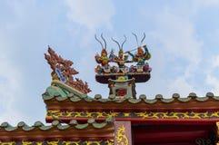 Λεπτομέρεια της αρχιτεκτονικής της Κίνας στοκ εικόνα