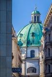 Λεπτομέρεια της Βιέννης Peterskirche Στοκ φωτογραφίες με δικαίωμα ελεύθερης χρήσης