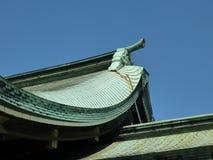 Λεπτομέρεια της γραμμής στεγών λάρνακας Meiji, Τόκιο, Ιαπωνία Στοκ Φωτογραφίες