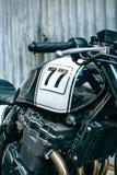 Λεπτομέρεια της δεξαμενής μηχανών και αερίου της μοτοσικλέτας στοκ εικόνα με δικαίωμα ελεύθερης χρήσης