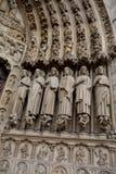Λεπτομέρεια της εισόδου στη Notre Dame στο Παρίσι, Γαλλία Στοκ εικόνα με δικαίωμα ελεύθερης χρήσης