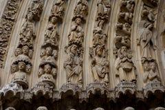Λεπτομέρεια της εισόδου στη Notre Dame στο Παρίσι, Γαλλία Στοκ φωτογραφία με δικαίωμα ελεύθερης χρήσης