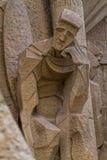 Λεπτομέρεια της διάσημης εκκλησίας από τη Βαρκελώνη της Ισπανίας, BA 05 Juny 2012 Στοκ Εικόνα