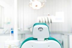 Λεπτομέρεια της καρέκλας οδοντιάτρων Στοκ Φωτογραφία