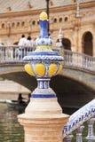 Λεπτομέρεια της καλλιτεχνικής κεραμικής Plaza de Espana, Σεβίλη Στοκ φωτογραφία με δικαίωμα ελεύθερης χρήσης
