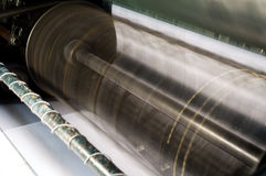 Λεπτομέρεια της μηχανής εκτύπωσης όφσετ Στοκ Εικόνες
