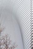 Λεπτομέρεια της νέας διέλευσης πλημνών μεταφορών του World Trade Center και λιανική πώληση Στοκ φωτογραφία με δικαίωμα ελεύθερης χρήσης
