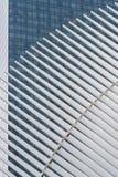 Λεπτομέρεια της νέας διέλευσης πλημνών μεταφορών του World Trade Center και λιανική πώληση Στοκ Φωτογραφία