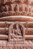 Λεπτομέρεια της ξύλινης γλυπτικής της θεότητας στον ινδό ναό στο Κατμαντού, Νεπάλ στοκ φωτογραφίες