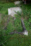 Λεπτομέρεια της παλαιάς ταφόπετρας Στοκ Φωτογραφία