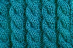 Λεπτομέρεια της πλέκοντας βελονιάς καλωδίων κιρκιριών Στοκ Φωτογραφία