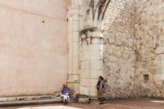 Λεπτομέρεια της πρώην μονής Cuilapan σε Oaxaca Μεξικό στοκ φωτογραφίες