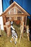 Λεπτομέρεια της σκηνής nativity για το σκοπό Χριστουγέννων Στοκ φωτογραφίες με δικαίωμα ελεύθερης χρήσης
