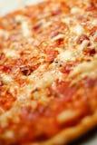 Λεπτομέρεια της σπιτικής πίτσας Στοκ Εικόνες