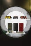 Λεπτομέρεια της στάσης Playstation στην εβδομάδα 2014 παιχνιδιών στο Μιλάνο, Ιταλία Στοκ φωτογραφίες με δικαίωμα ελεύθερης χρήσης