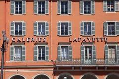 Λεπτομέρεια της στοάς Λαφαγέτ στη θέση Massena, Νίκαια, Γαλλία Στοκ Φωτογραφία