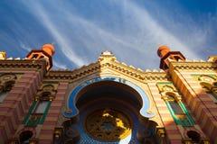 Λεπτομέρεια της συναγωγής της Ιερουσαλήμ (ιωβηλαίο) στην Πράγα στοκ εικόνες