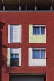 Λεπτομέρεια της σύγχρονης αρχιτεκτονικής στην Ιταλία Στοκ εικόνα με δικαίωμα ελεύθερης χρήσης