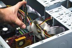 Λεπτομέρεια της υπηρεσίας επισκευής υπολογιστών Στοκ Φωτογραφίες