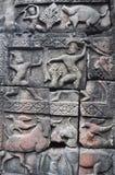 Λεπτομέρεια της χάραξης πετρών στο ναό Baphuon Στοκ φωτογραφία με δικαίωμα ελεύθερης χρήσης