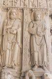 Λεπτομέρεια του αγάλματος στον παλαιό καθεδρικό ναό Sainte Trophime σε Arles Γαλλία Στοκ φωτογραφία με δικαίωμα ελεύθερης χρήσης
