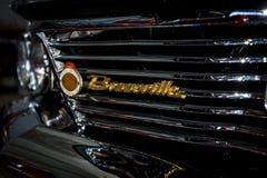 Λεπτομέρεια του αυτοκινήτου Pontiac Bonneville, 1960 φυσικού μεγέθους Στοκ Φωτογραφίες