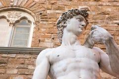 Λεπτομέρεια του Δαβίδ από Michelangelo στη Φλωρεντία Στοκ Εικόνες